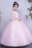 Διακοσμητικά Επιράμματα Επίσημη Γραμμή Α Λουλούδι κορίτσι φορέματα