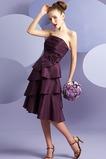 Γραμμή Α Μικροκαμωμένη Σταφύλι Αμάνικο Ταφτάς Παράνυμφος φορέματα