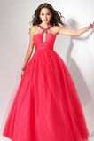 Οι πτυχωμένες μπούστο Κλειδαρότρυπα ντεκολτέ Μπάλα φορέματα
