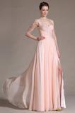 Ένας Ώμος Γραμμή Α Χάντρες Μικροκαμωμένη Βραδινά φορέματα