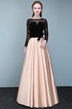 Δαντέλα Φυσικό Κομψό Ψευδαίσθηση Δαντέλα-επάνω Μπάλα φορέματα