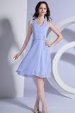 Λαιμόκοψη V Φυσικό Σιφόν σύγχρονος Μικροκαμωμένη Παράνυμφος φορέματα