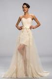 Γραμμή Α Κομψό Δαντέλα επικάλυψης Δαντέλα Βραδινά φορέματα