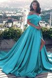 Άνοιξη Ντραπέ Από τον ώμο Αμάνικο Φερμουάρ επάνω Βραδινά φορέματα