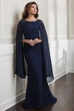 Αμάνικο Φερμουάρ επάνω Με το σάλι Θήκη Αχλάδι Μητέρα φόρεμα