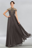 Φθινόπωρο Σιφόν Οι πτυχωμένες μπούστο Ψευδαίσθηση Βραδινά φορέματα