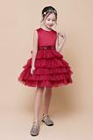Αμάνικο δραματική Μέχρι το Γόνατο Πούλιες Λουλούδι κορίτσι φορέματα