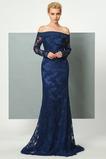 Φυσικό Φερμουάρ επάνω Μικρό Μακρύ Μανίκι Βραδινά φορέματα