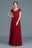 Επίσημη Γραμμή Α Κοντομάνικο Φυσικό Κόσμημα τονισμένο μπούστο Μητέρα φόρεμα