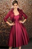 Σατέν αγαπημένος Μέχρι το Γόνατο Φερμουάρ επάνω Μητέρα φόρεμα