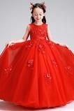 Γραμμή Α Αμάνικο Τούλι κούνια Τόξο Φυσικό Λουλούδι κορίτσι φορέματα