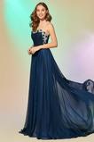 Αχλάδι Σιφόν Φερμουάρ επάνω Φυσικό Χάντρες Μπάλα φορέματα