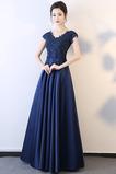 Τούλι Λαιμόκοψη V Προσαρμοσμένες μανίκια Μπάλα φορέματα