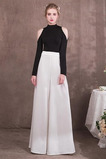 Χάνει Πολυτελές Φυσικό Φερμουάρ επάνω Μακρύ Μανίκι Βραδινά φορέματα