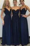 Κομψό Αμάνικο Οι πτυχωμένες μπούστο Φυσικό Παράνυμφος φορέματα