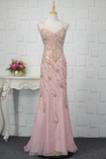 Φυσικό Κρυστάλλινη Μέχρι τον αστράγαλο Κόσμημα τονισμένο μπούστο Βραδινά φορέματα