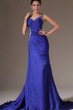 Μακρύ Ευρεία λουριά Αμάνικο Φυσικό Ντραπέ Βραδινά φορέματα