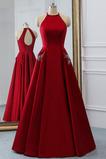 Μέχρι τον αστράγαλο κούνια Σατέν Φυσικό Αμάνικο Μπάλα φορέματα