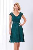 Διακοσμημένες με χάντρες ζώνη Δαντέλα Ρομαντικό Μητέρα φόρεμα