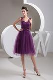 Μέχρι το Γόνατο Φυσικό Πλισέ άτυπος Αμάνικο Μπάλα φορέματα