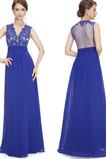 Λαιμόκοψη V Αμάνικο Φυσικό Επίσημη Γραμμή Α Βραδινά φορέματα