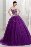 Τονισμένα ροζέτα αγαπημένος Αμάνικο Γραμμή Α Μπάλα φορέματα