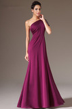 Οι πτυχωμένες μπούστο Κομψό Ντραπέ Γραμμή Α Βραδινά φορέματα