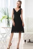 Αμάνικο Μέχρι το Γόνατο Σιφόν Γραμμή Α φύλλο Παράνυμφος φορέματα
