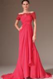 Κομψό Οι πτυχωμένες μπούστο Χάνει Κοντομάνικο Βραδινά φορέματα