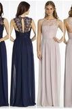 Δαντέλα επικάλυψης Κόσμημα Φυσικό Αμάνικο Παράνυμφος φορέματα