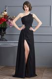 Αμάνικο Γραμμή Α Μπροστινό Σκίσιμο Σιφόν Μπάλα φορέματα
