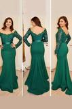 Σατέν Γοργόνα Έτος 2020 Χάνει Φερμουάρ επάνω Βραδινά φορέματα
