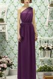 Μέχρι τον αστράγαλο Φυσικό Ένας Ώμος Τόξο Παράνυμφος φορέματα