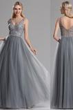 Ανάποδο Τρίγωνο Δαντέλα επικάλυψης Δαντέλα Βραδινά φορέματα