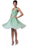 Σιφόν Χάντρες Φθινόπωρο Μέχρι το Γόνατο Αμάνικο Μπάλα φορέματα