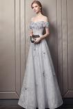 Φυσικό Δαντέλα Μέχρι τον αστράγαλο Προσαρμοσμένες μανίκια Βραδινά φορέματα