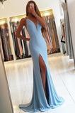 Καλοκαίρι Θήκη Αμάνικο Μπροστινό Σκίσιμο Βραδινά φορέματα