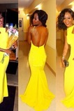 Δεν μέση εξώπλατο πιέτα Αμάνικο Υψηλός λαιμός Βραδινά φορέματα