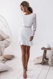 Κόσμημα εξώπλατο Έτος 2019 Μακρύ Μανίκι Κοντομάνικο Κοκτέιλ φορέματα