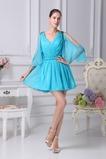 Χαλαρά μανίκια 3 Λαιμόκοψη V σύγχρονος Γραμμή Α Μπάλα φορέματα