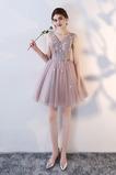 εξώπλατο Χάνει Μίνι Γραμμή Α Τονισμένα ροζέτα Παράνυμφος φορέματα