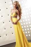 Φυσικό Οι πτυχωμένες μπούστο Κίτρινο Κρυστάλλινη Μπάλα φορέματα