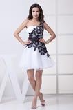 Ασύμμετρη λαιμό Ασύμμετρα μανίκια Αμάνικο Κοκτέιλ φορέματα