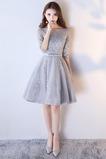 Μισό Μανίκι Μέχρι το Γόνατο Τόξο δραματική Παράνυμφος φορέματα