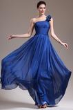 Ένας Ώμος Κομψό Ντραπέ Χαμηλή Μέση Αμάνικο Βραδινά φορέματα