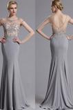 Κόσμημα Ψευδαίσθηση Κοντομάνικο Μήκος πατωμάτων Βραδινά φορέματα