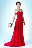 Οι πτυχωμένες μπούστο Χάνει Γραμμή Α απλός Παράνυμφος φορέματα