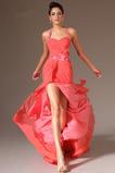 Μακρύ Φυσικό Φερμουάρ επάνω Λουλούδι καπίστρι Βραδινά φορέματα