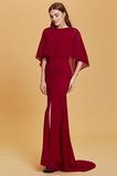 Φερμουάρ επάνω Φυσικό Κομψό Κόσμημα Χαλαρά μανίκια Βραδινά φορέματα