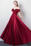 Γραμμή Α Φυσικό Δαντέλα-επάνω Προσαρμοσμένες μανίκια Μπάλα φορέματα